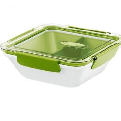 Ланч-бокс EMSA BENTO BOX со вставкой, 0,9 л, белый с зелёным Emsa 513960