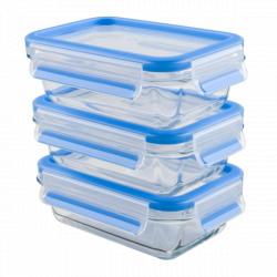 Набор из 3 контейнеров EMSA CLIP&CLOSE GLASS стекло, 0,5 л Emsa 514170