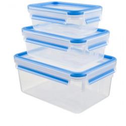 Набор из 3 контейнеров 0,5, 1 и 2,3 л Emsa CLIP&CLOSE 508566