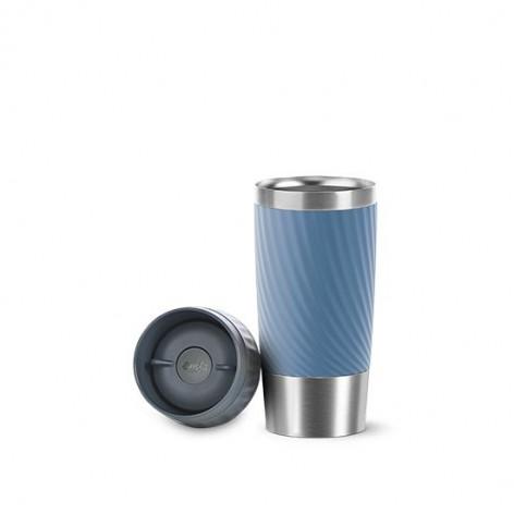 Термокружка  0,36 л, синяя Emsa TRAVEL MUG EASY TWIST N2011800 - emsa – фото 3