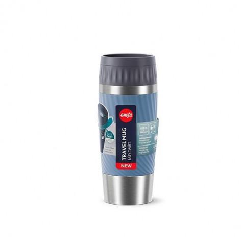 Термокружка  0,36 л, синяя Emsa TRAVEL MUG EASY TWIST N2011800 - emsa – фото 4