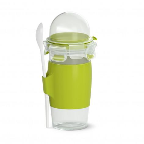 Кружка EMSA CLIP & GO YOGHURT MUG, зеленая Emsa 0,45 л N1071400 - emsa – фото 1