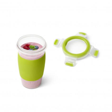 Кружка EMSA CLIP & GO SMOOTHIE MUG, зеленая Emsa 0,45 л N1071500 - emsa – фото 2