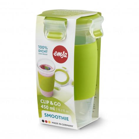 Кружка EMSA CLIP & GO SMOOTHIE MUG, зеленая Emsa 0,45 л N1071500 - emsa – фото 3
