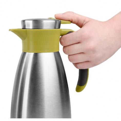 Термос-чайник EMSA SOFT GRIP, 1,5 л, зелёный и сталь Emsa 514502 - emsa – фото 5