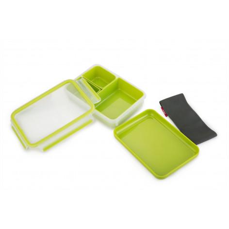 Ланч-бокс EMSA CLIP & GO со вставками, 1,2 л, зелёный Emsa 518098 - emsa – фото 3
