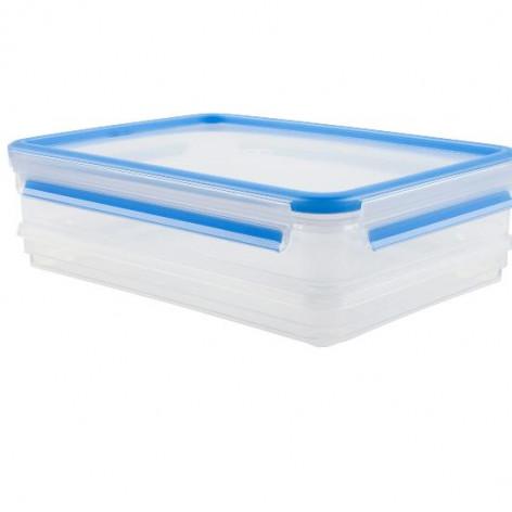 Набор из 2 контейнеров  1 и 1,65 л Emsa CLIP&CLOSE 508557 - emsa – фото 1