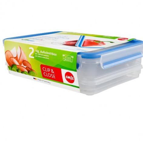 Набор из 2 контейнеров  1 и 1,65 л Emsa CLIP&CLOSE 508557 - emsa – фото 2