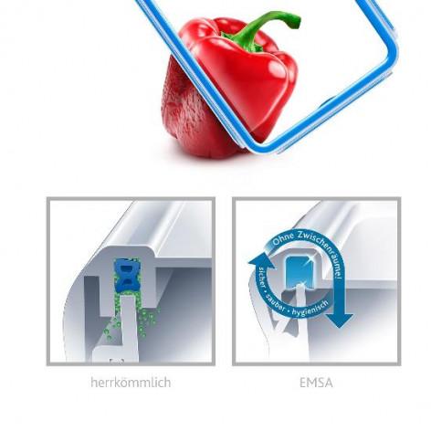 Набор из 2 контейнеров  1 и 1,65 л Emsa CLIP&CLOSE 508557 - emsa – фото 4
