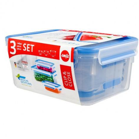Набор из 3 контейнеров EMSA CLIP&CLOSE, 0,5, 1 и 2,3 л Emsa 508566 - emsa – фото 3