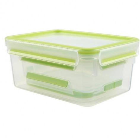 Набор из 3 контейнеров EMSA CLIP&CLOSE, 0,55, 1 и 2,3 л, зелёный Emsa 515585 - emsa – фото 2