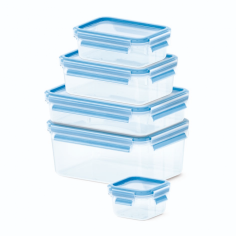Набор из 5 контейнеров Emsa CLIP&CLOSE 512753 - emsa – фото 1