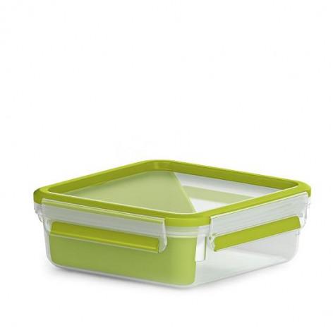 Сэндвич-бокс EMSA CLIP & GO со вставкой, 0,85 л, зелёный Emsa 518104 - emsa – фото 1