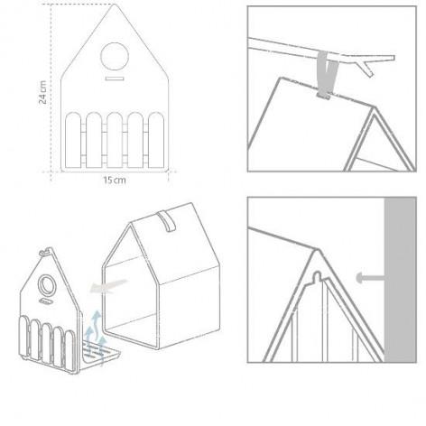 Скворечник EMSA LANDHAUS 15x24 см, серый Emsa 516575 - emsa – фото 2