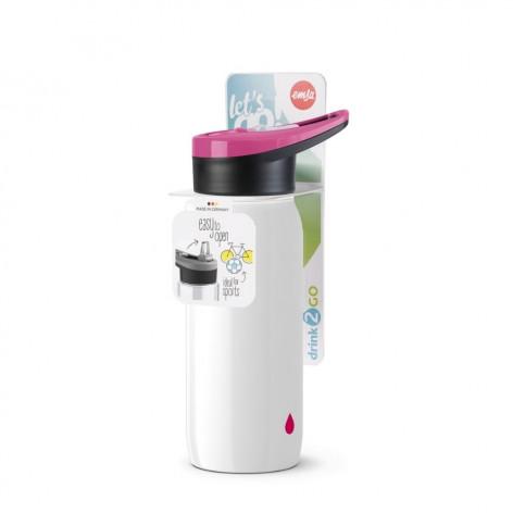 Бутылка для воды EMSA N3010600 Drink2Go 0,6 л белая - emsa – фото 3