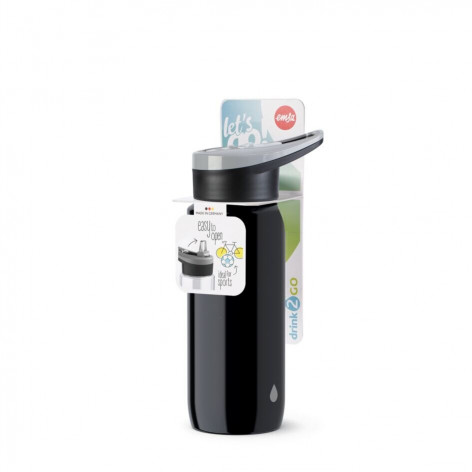 Бутылка для воды EMSA Drink2Go N3010700 0,6 л черная - emsa – фото 4