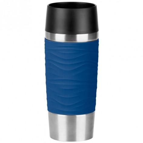 Термокружка EMSA TRAVEL MUG WAVES, синяя, 0,36 л Emsa N2010900 - emsa – фото 1
