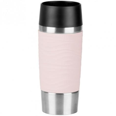 Термокружка EMSA TRAVEL MUG WAVES, розовая, 0,36 л Emsa N2010600 - emsa – фото 1