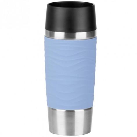 Термокружка EMSA TRAVEL MUG WAVES, голубая, 0,36 л Emsa N2010700 - emsa – фото 1
