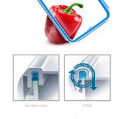 Контейнер EMSA CLIP&CLOSE пластиковый квадратный, 0,85 л Emsa 508536 - emsa – фото 5