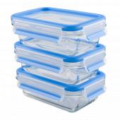 Набор из 3 контейнеров EMSA CLIP&CLOSE GLASS стекло, 0,5 л Emsa 514170 - emsa – фото 1