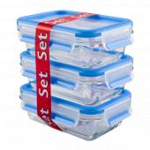 Набор из 3 контейнеров EMSA CLIP&CLOSE GLASS стекло, 0,5 л Emsa 514170 - emsa – фото 3