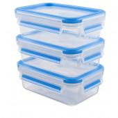 Набор из 3 контейнеров EMSA CLIP&CLOSE, 0,55 л Emsa 508570 - emsa – фото 1