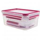 Набор из 3 контейнеров EMSA CLIP&CLOSE, 0,55, 1 и 2,3 л, малинов Emsa 515584 - emsa – фото 2