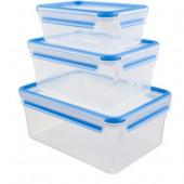 Набор из 3 контейнеров EMSA CLIP&CLOSE, 1, 2,3 и 3,7 л Emsa 508567 - emsa – фото 1