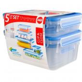 Набор из 5 контейнеров Emsa CLIP&CLOSE 512753 - emsa – фото 5