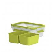 Снэк-бокс EMSA CLIP & GO со вставками, 0,55 л, зелёный Emsa 518102 - emsa – фото 2