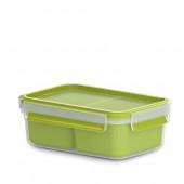 Снэк-бокс EMSA CLIP & GO со вставками, 1 л, зелёный Emsa 518101 - emsa – фото 1