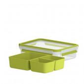 Снэк-бокс EMSA CLIP & GO со вставками, 1,2 л, зелёный Emsa 518100 - emsa – фото 2