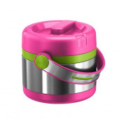 Термос для ланча EMSA MOBILITY KIDS, 0,65 л, розовый с зелёным Emsa 515861 - emsa – фото 1